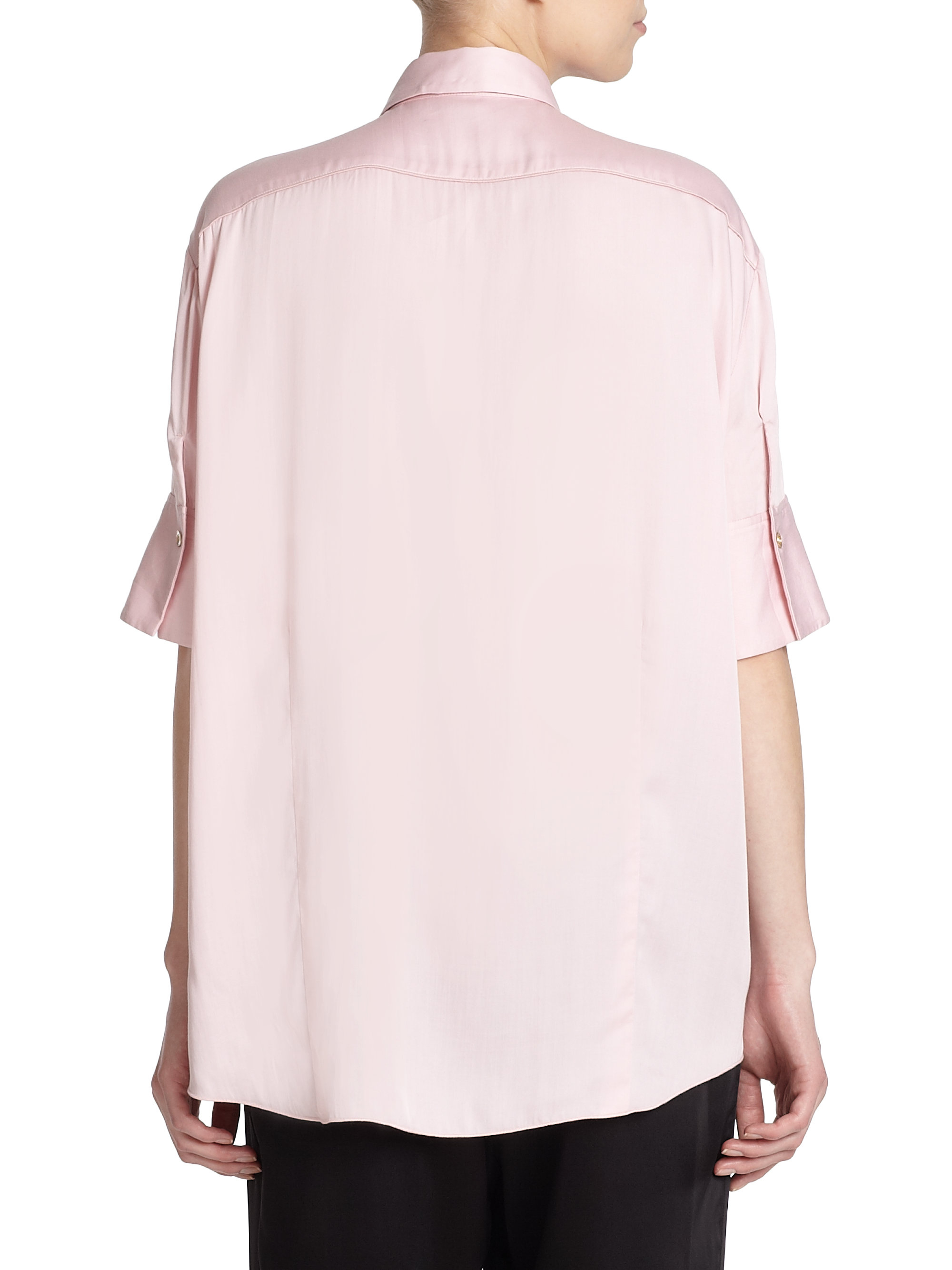 Acne Studios Addle Fluid Button Down Shirt In Pink Lyst