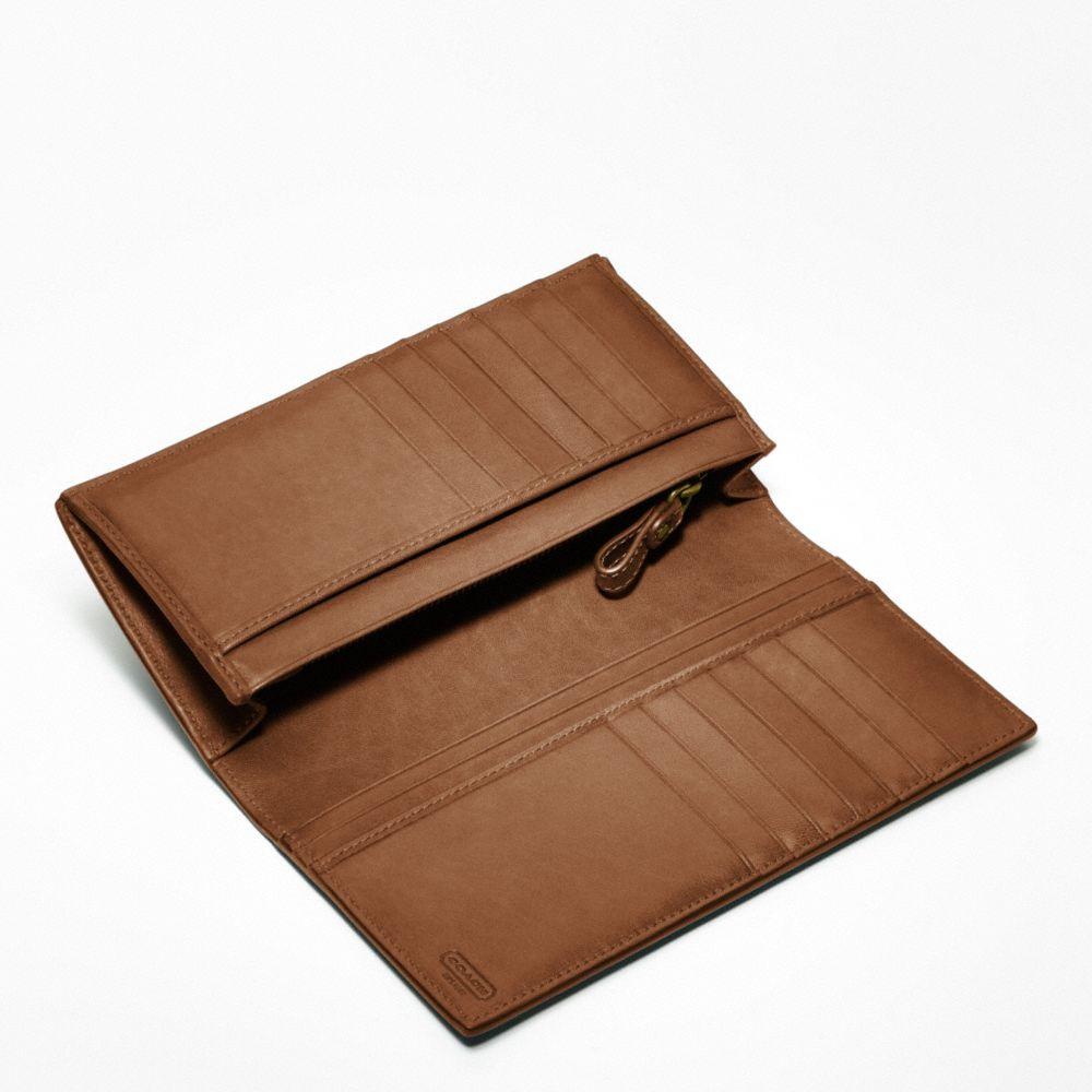 51176e1d COACH Brown Bleecker Breast Pocket Wallet in Leather for men