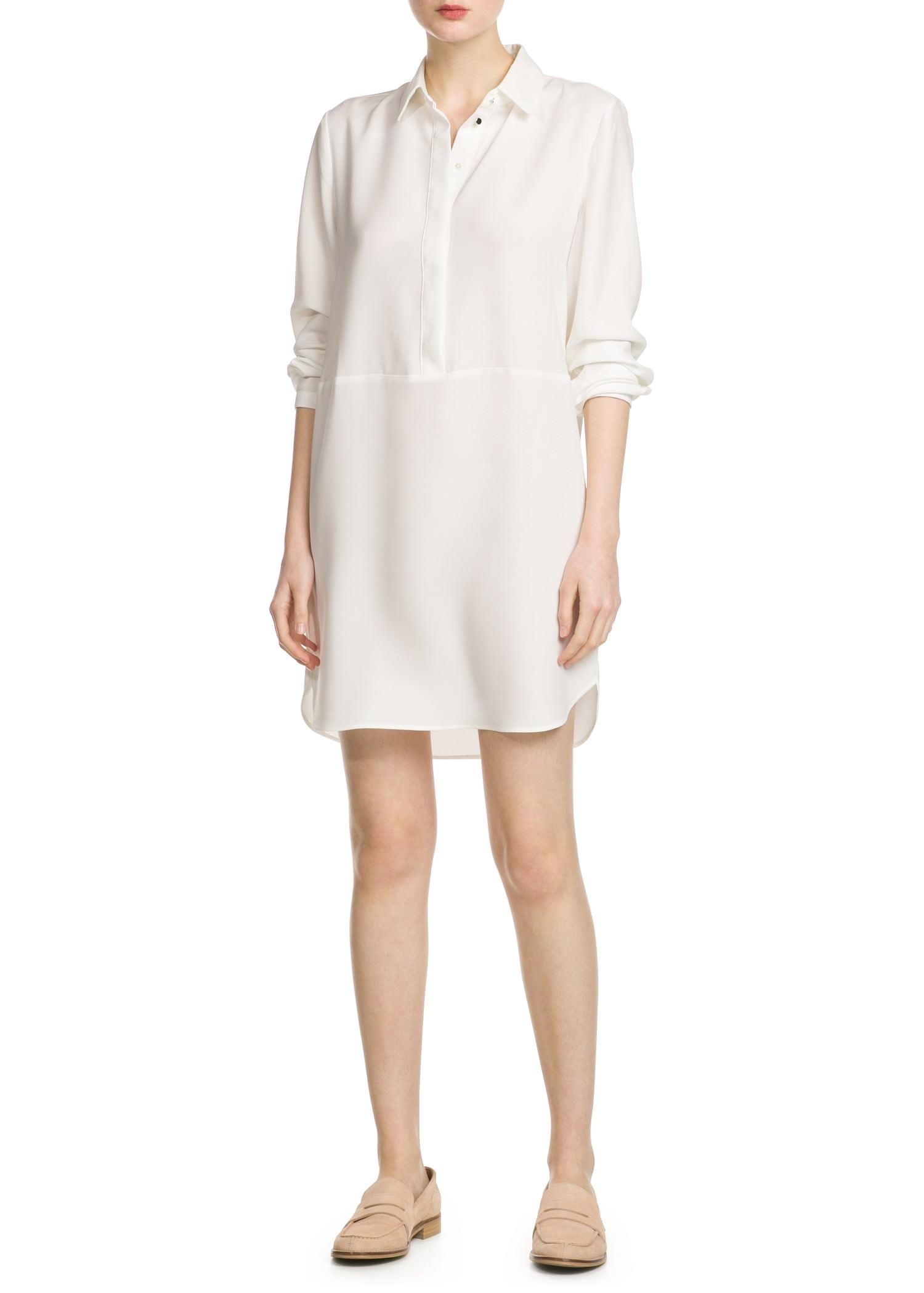 Lyst Mango Shirt Dress In White