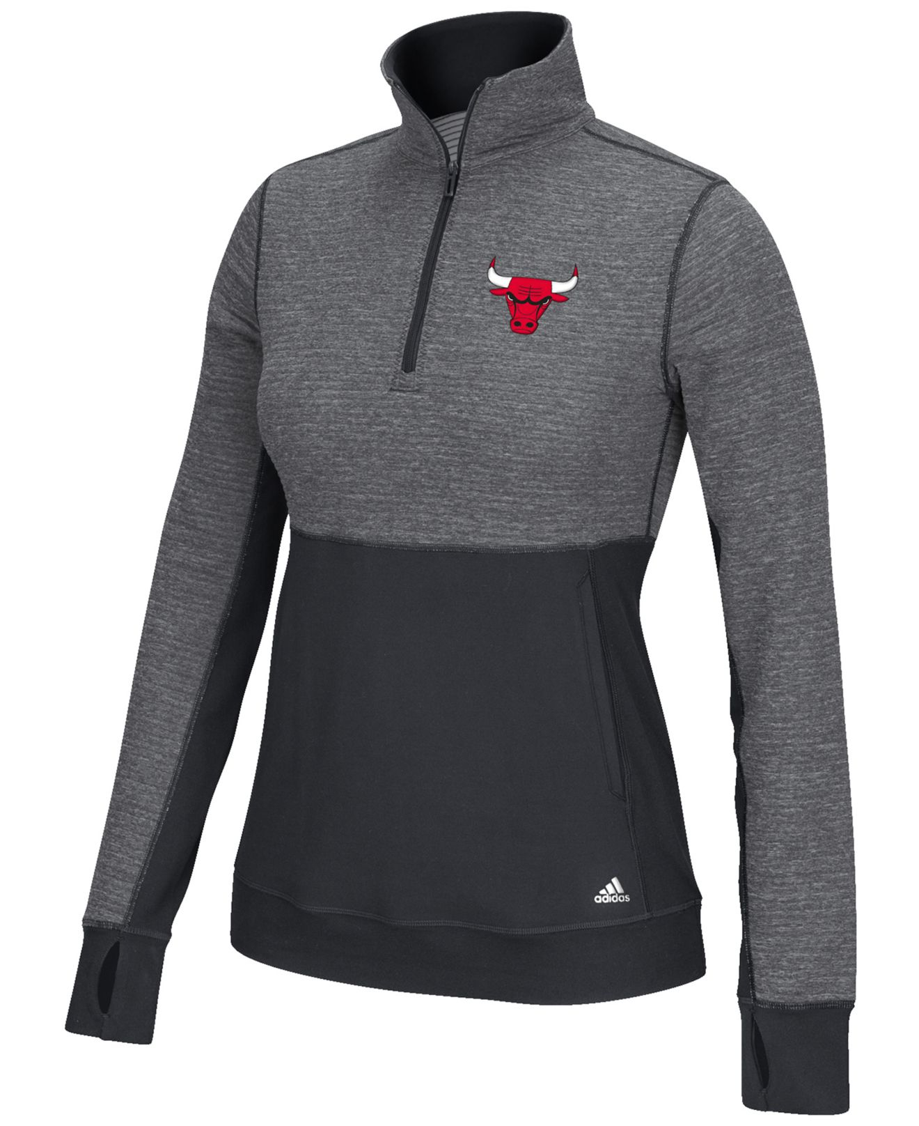 Lyst - Adidas Women s Chicago Bulls Climalite Quarter-zip Jacket in ... 0c6b7c071