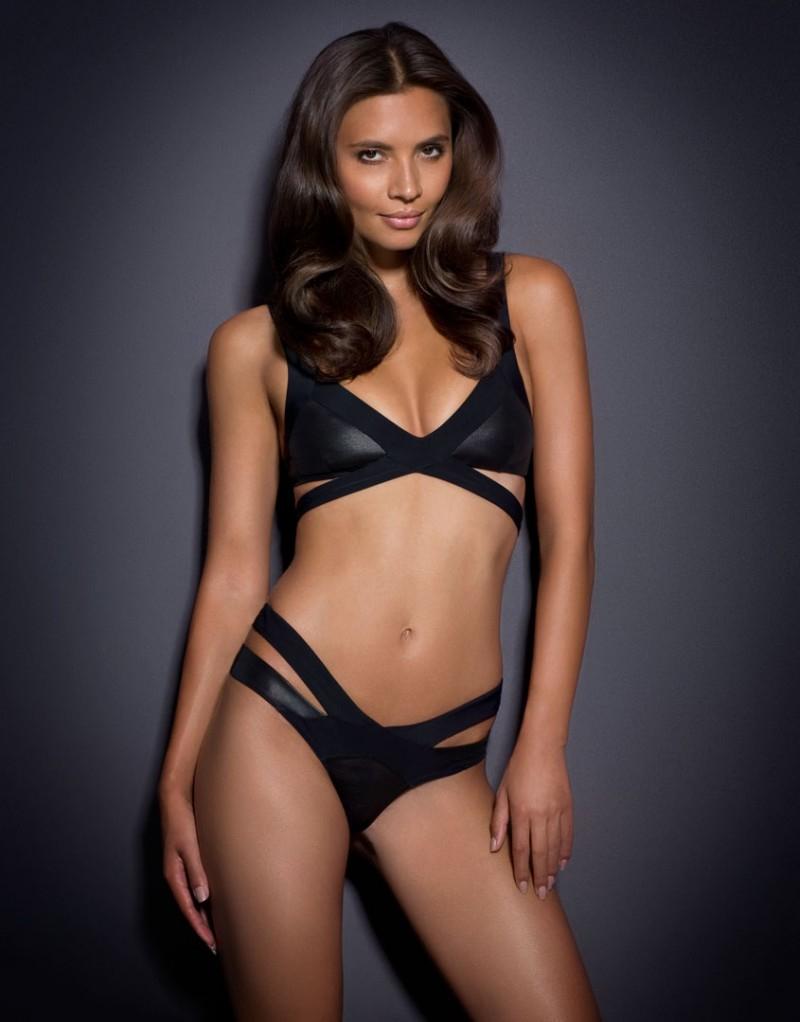 eea2e9f011 Lyst - Agent Provocateur Mazzy Bikini Bra Wetlook Black in Black
