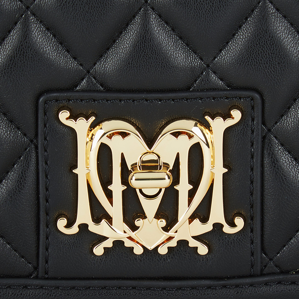 3eaca979da Love Moschino Women s Quilted Small Cross Body Bag in Black - Lyst