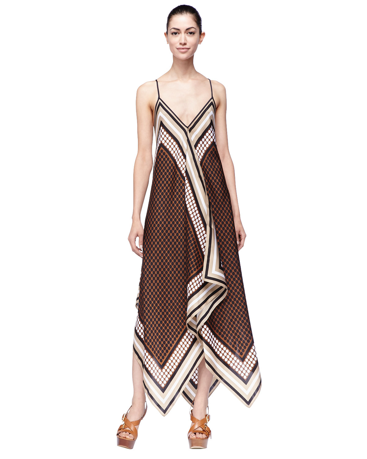 Michael Kors Michael Printed Sleeveless Scarf Dress in ...