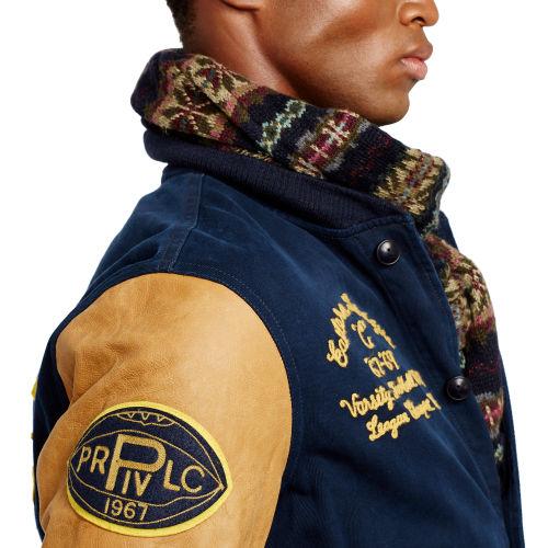 Lyst Polo Ralph Lauren Davidson Varsity Jacket In Blue