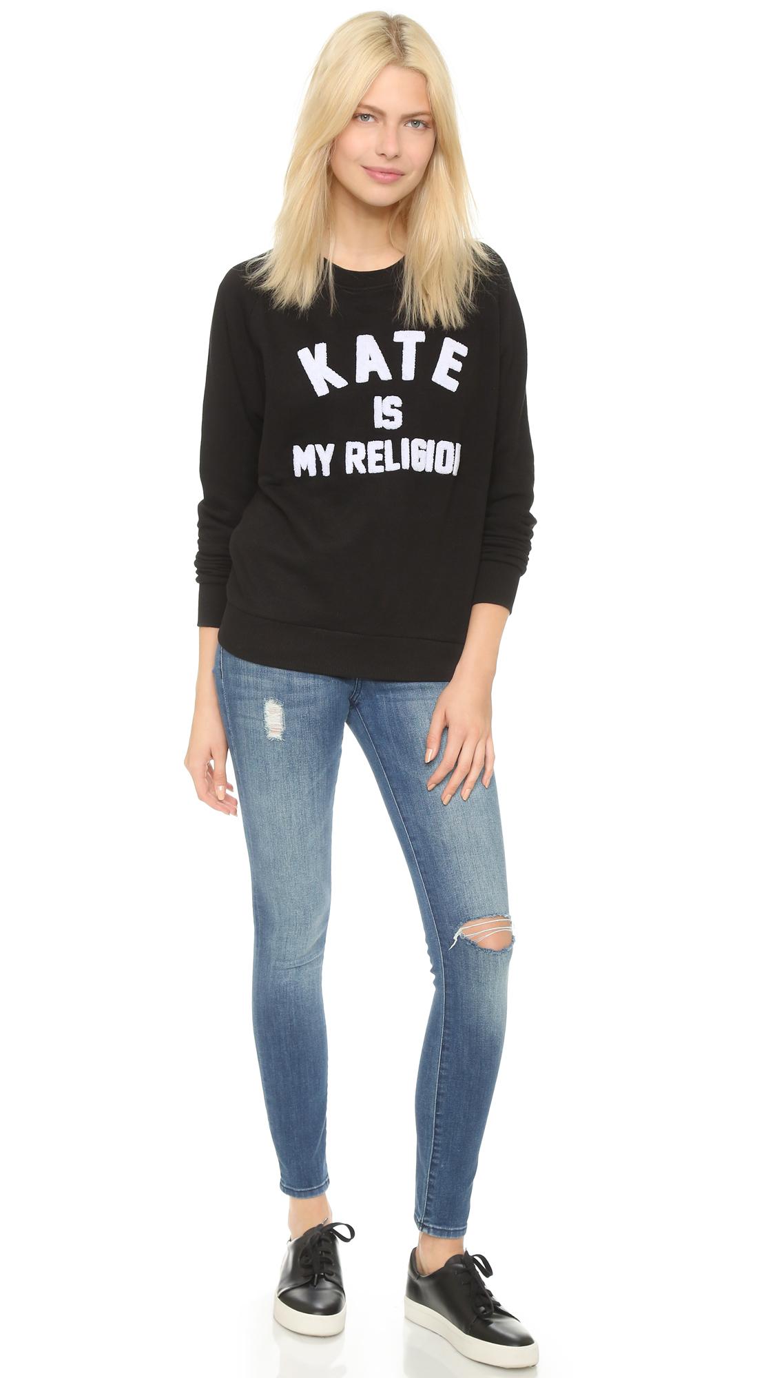 lyst eleven paris kate sweatshirt black in black. Black Bedroom Furniture Sets. Home Design Ideas
