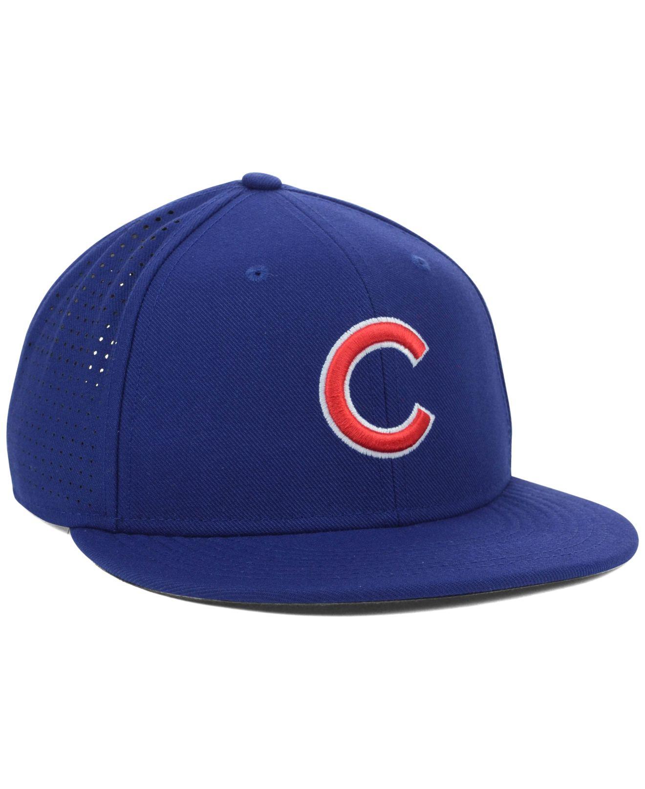 3dd4845199c ... coupon for lyst nike chicago cubs dri fit vapor adjustable cap in blue  for men 4f6ef