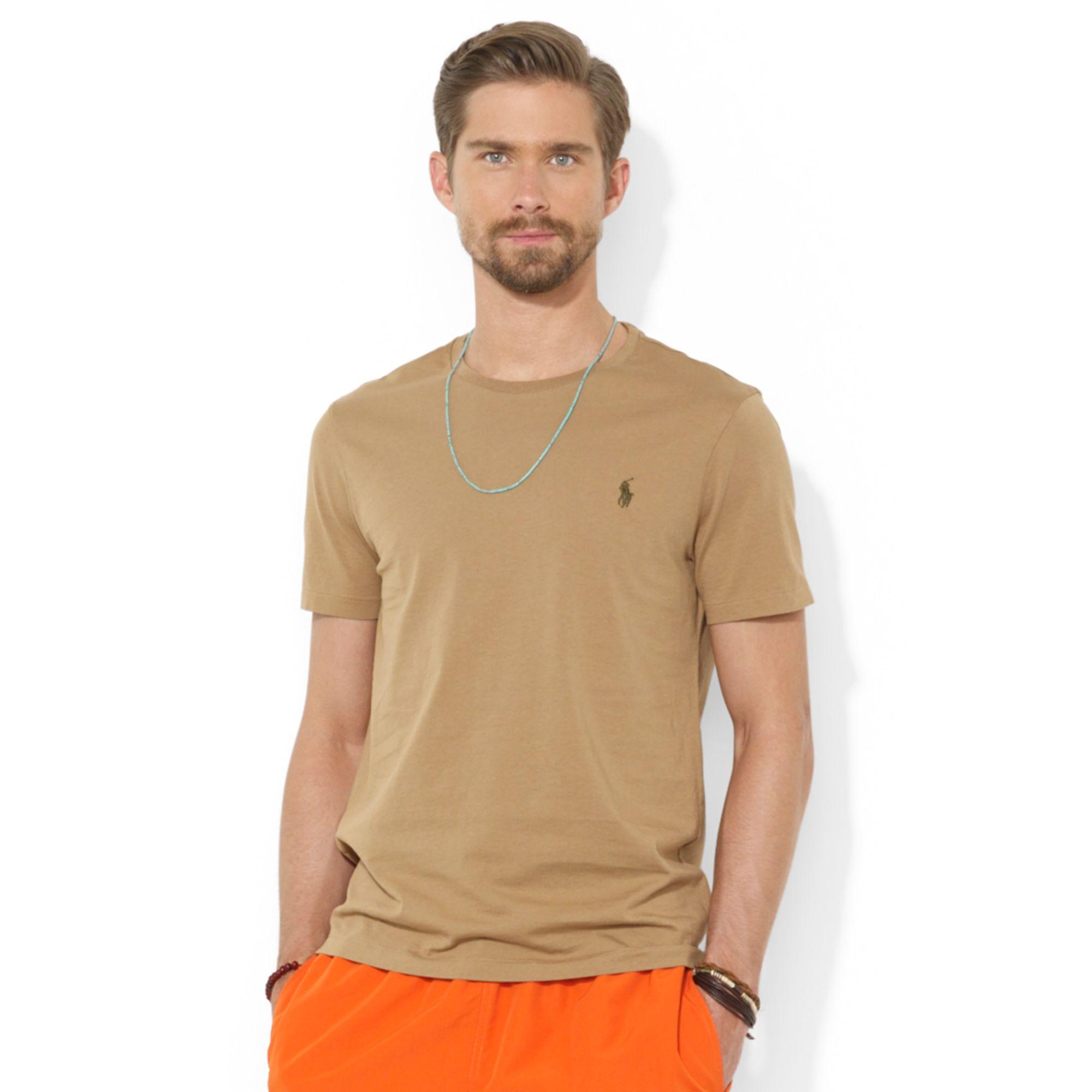 Polo Custom Fit Jersey Shirt Men Ralph T Natural For Lauren Cotton kuOXZiP
