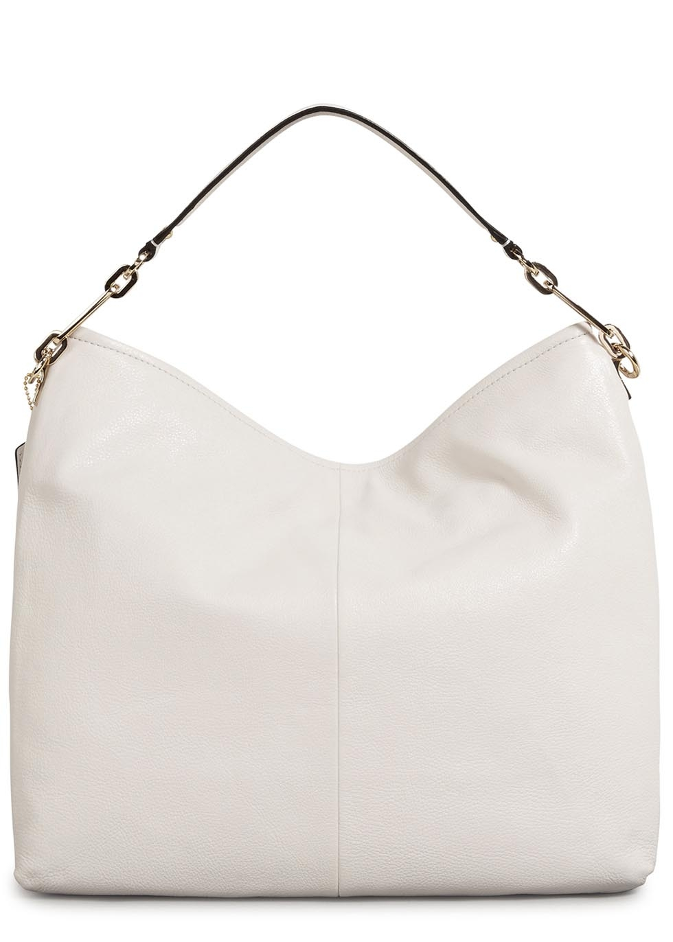 Coach Madison White Grained Leather Hobo Bag in White | Lyst