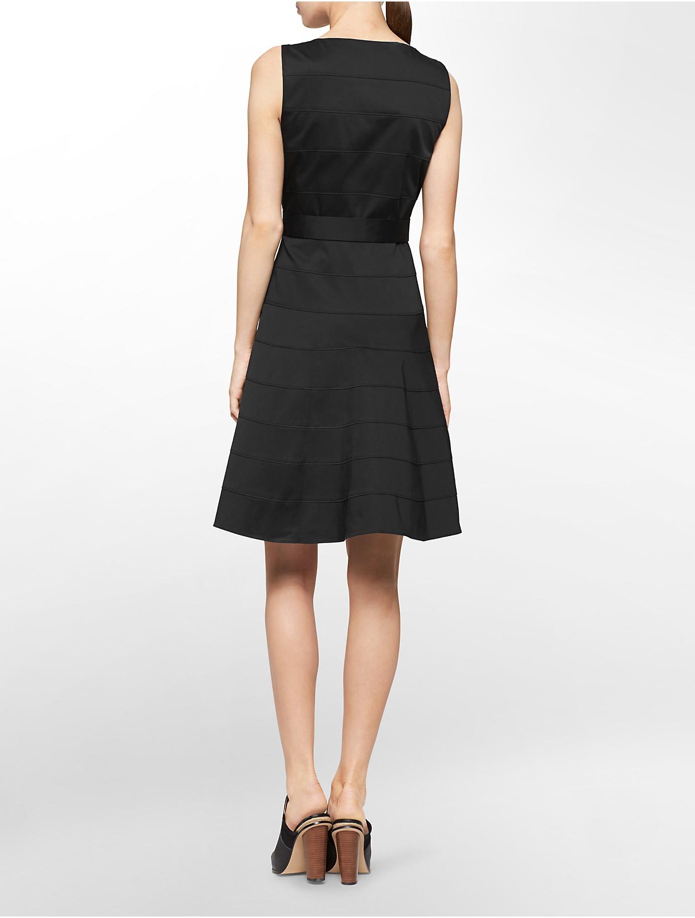 Lyst Calvin Klein White Label Tonal Wide Stripe Tie Belt