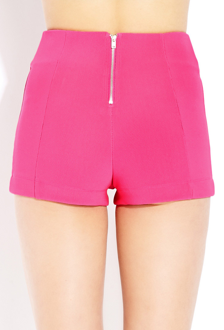 Forever 21 Bold High-waisted Shorts in Pink | Lyst