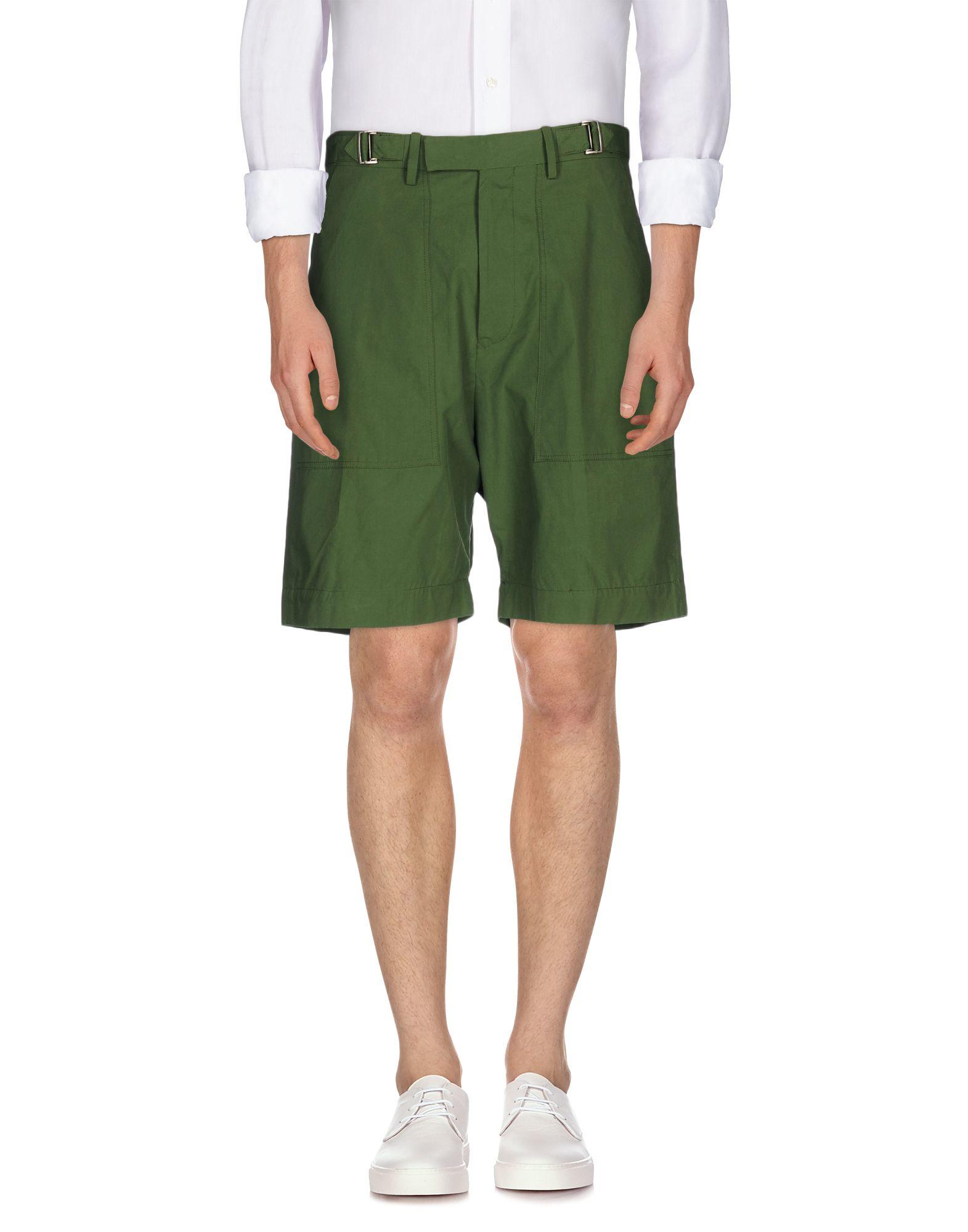 Umit benan Bermuda Shorts in Green for Men