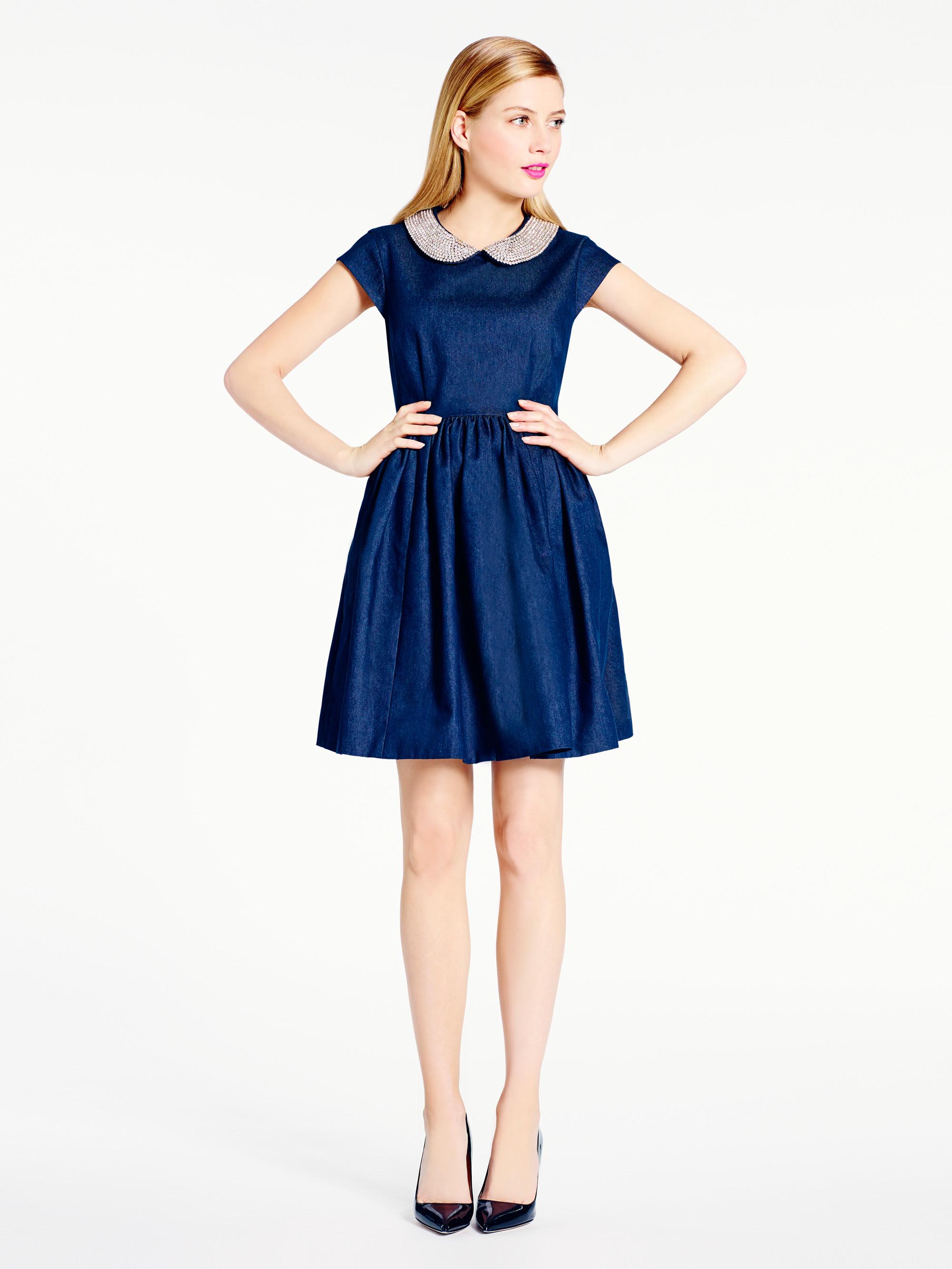 Lyst Kate Spade New York Denim Kimberly Dress In Blue