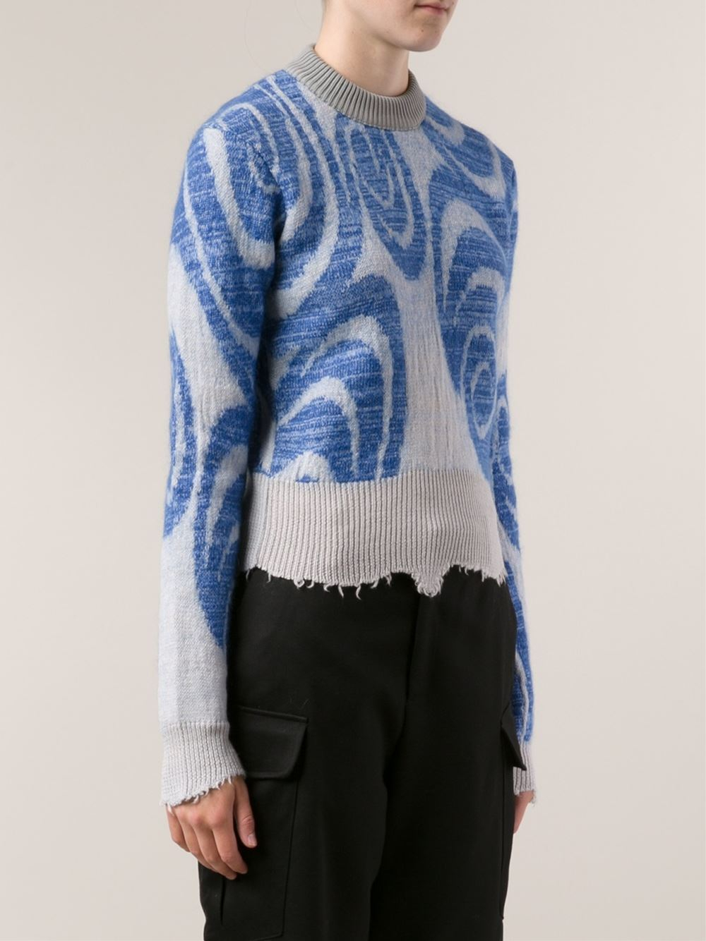 acne studios gaze sweater in blue lyst. Black Bedroom Furniture Sets. Home Design Ideas