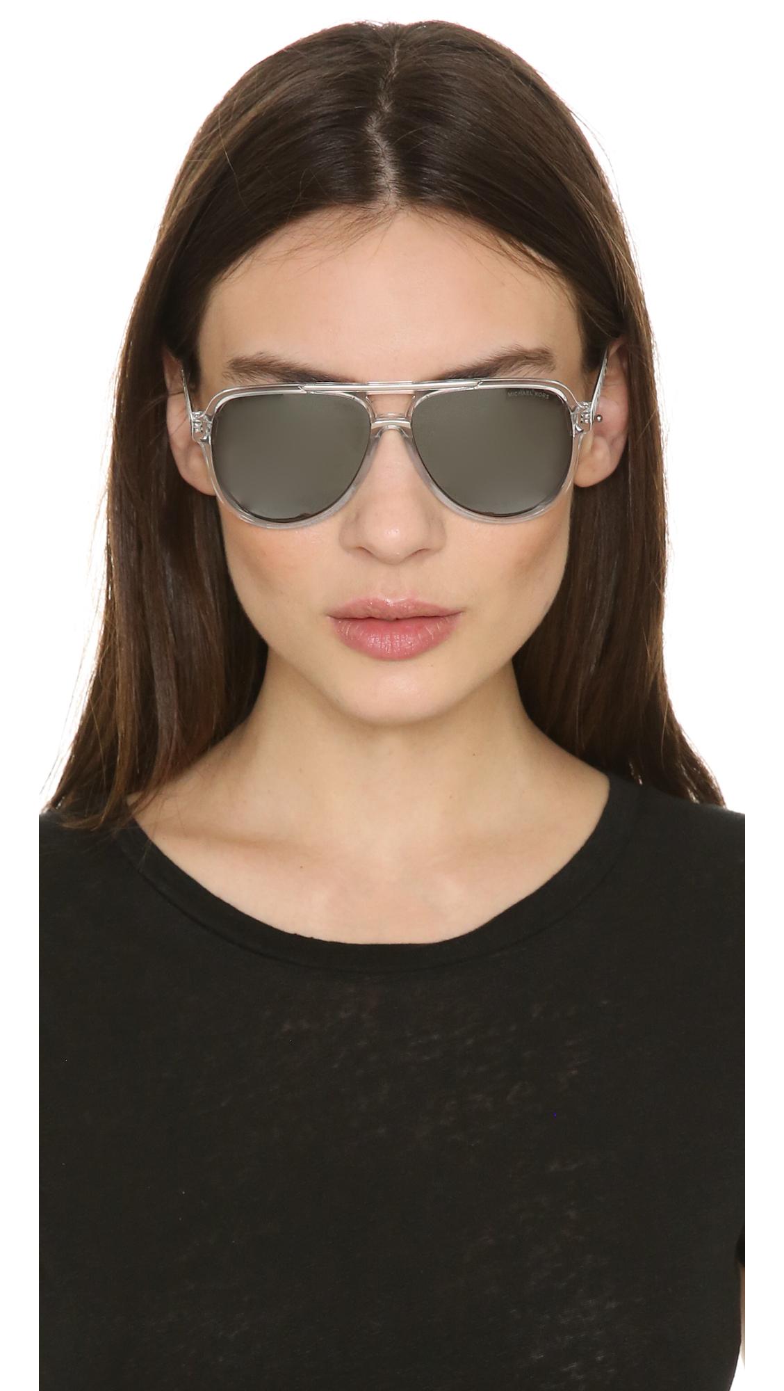 0382bac1cc63 Michael Kors Clementine Sunglasses in Metallic - Lyst