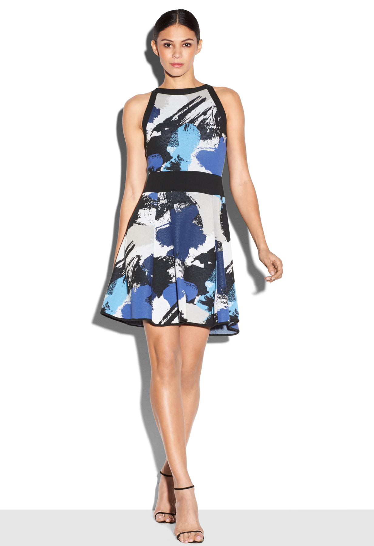 Milly Pop Art Sleeveless Fit Amp Flare Dress Lyst