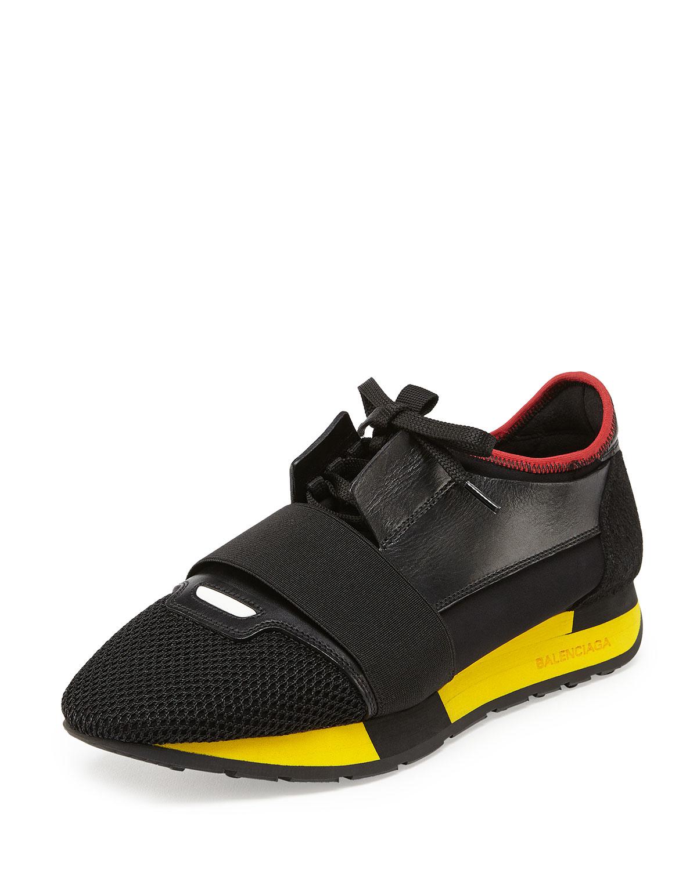balenciaga bicolor trainer sneaker in black almond lyst. Black Bedroom Furniture Sets. Home Design Ideas