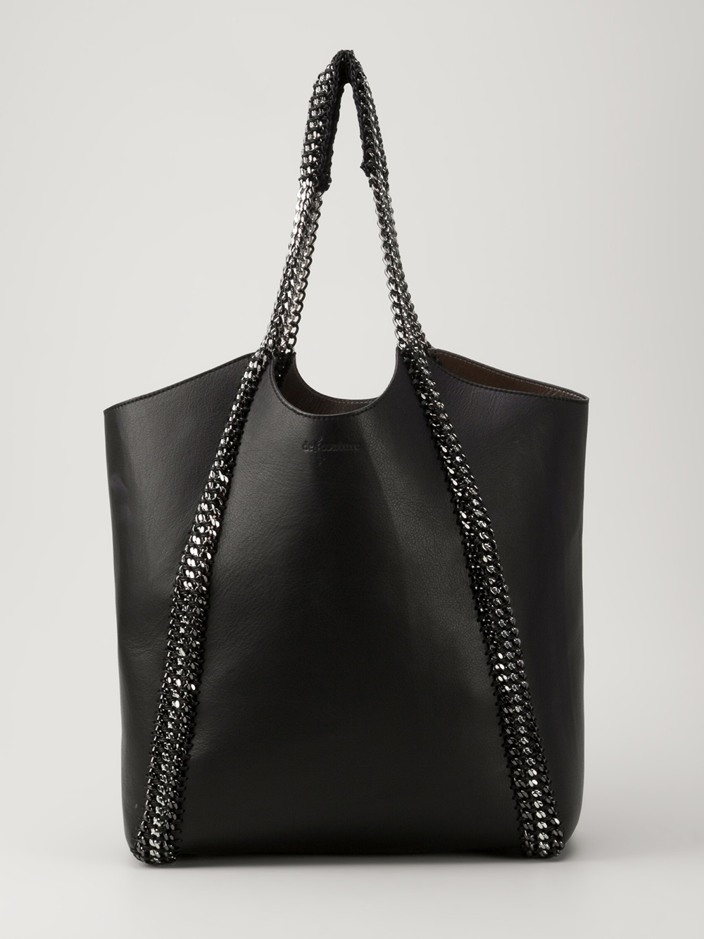 lyst de couture chain link tote bag in black. Black Bedroom Furniture Sets. Home Design Ideas