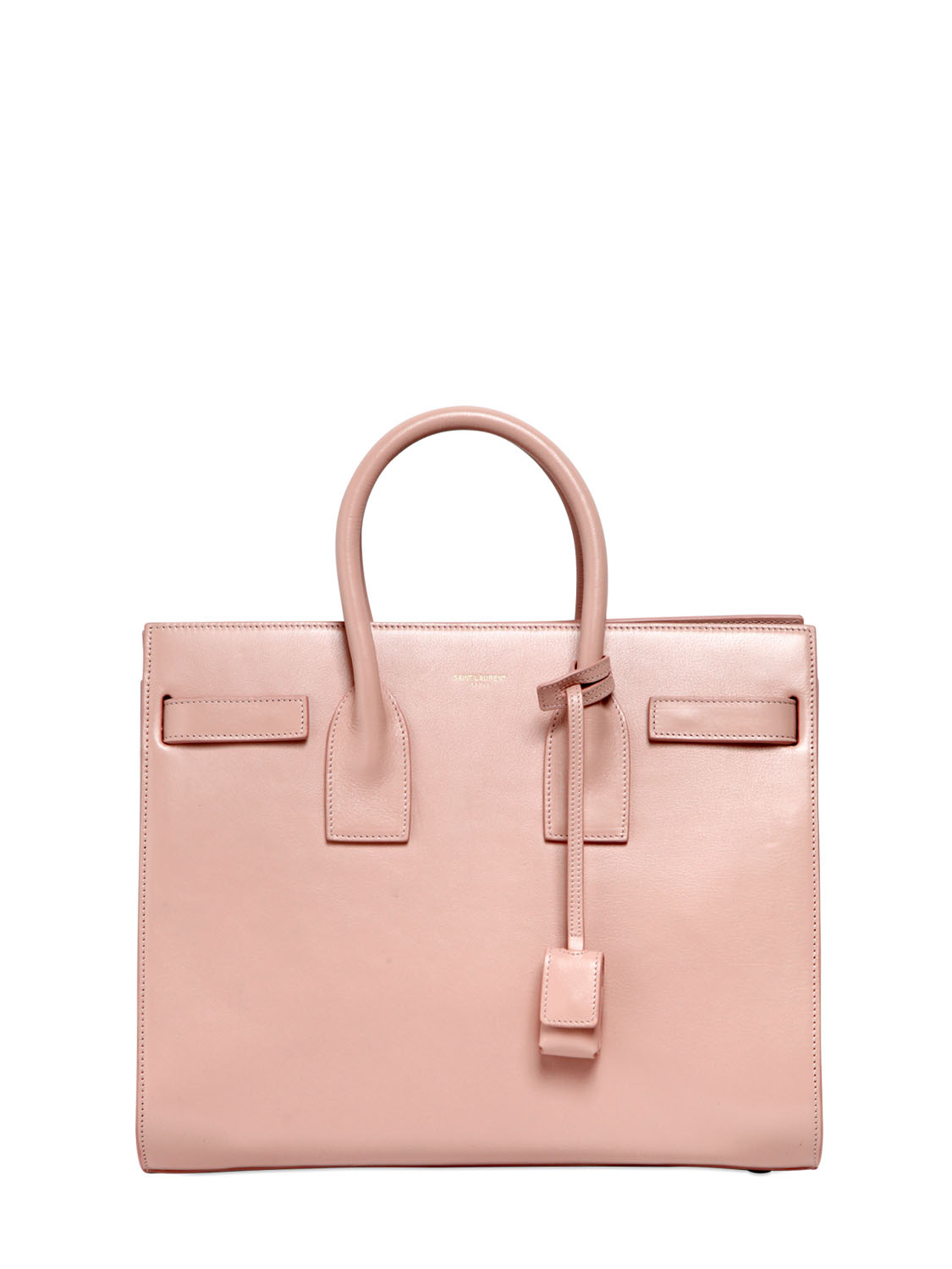 classic small sac de jour bag in fog grained leather yves