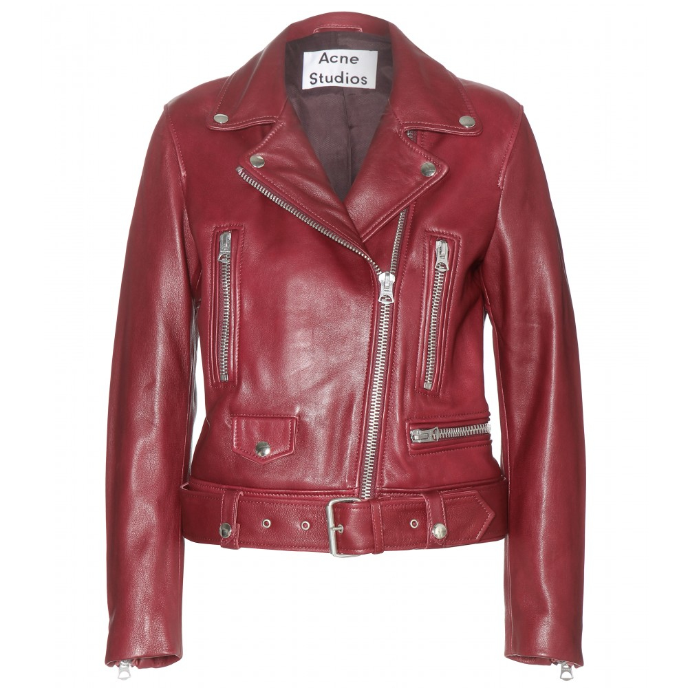 Lyst - Acne Studios Mock Leather Jacket in Red