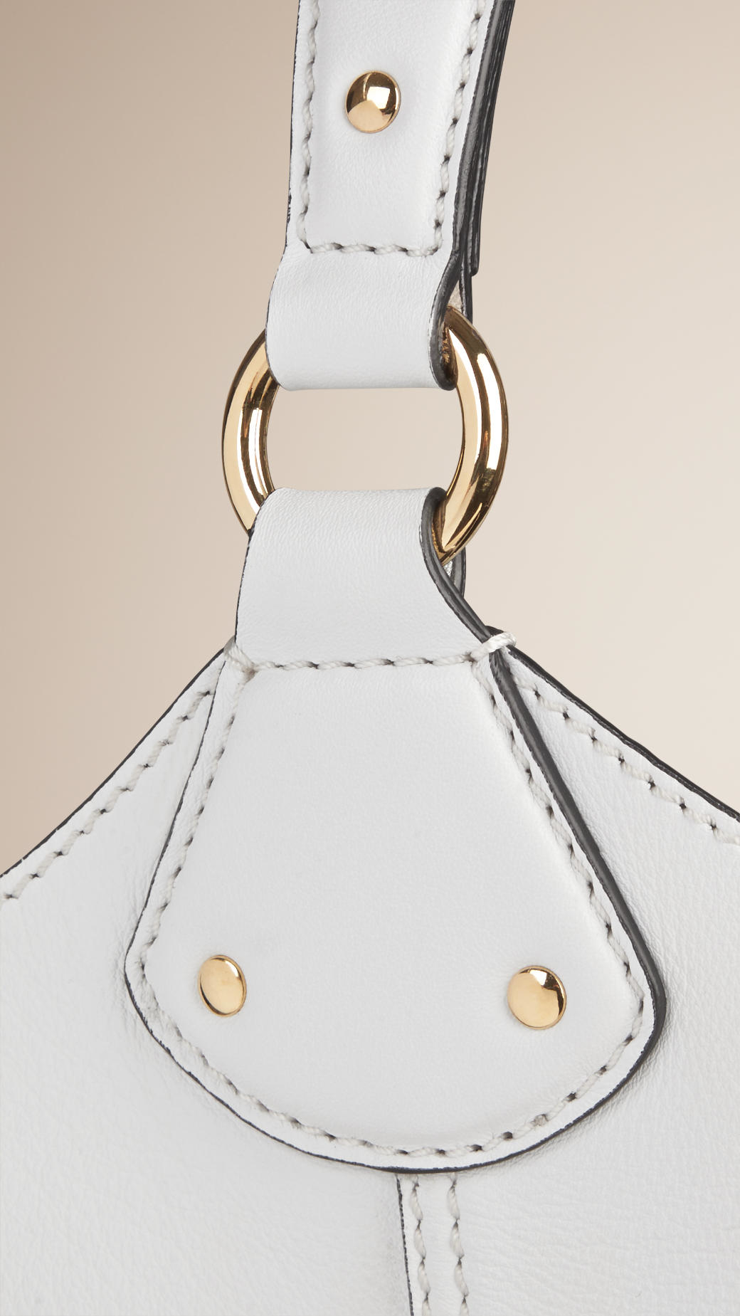 Burberry The Large Ashby Leather Bag in White | Lyst