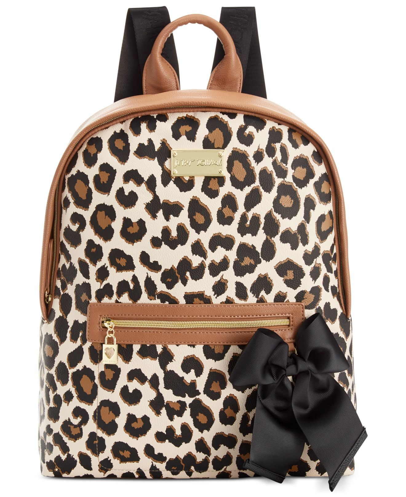 Lyst - Betsey Johnson Macy s Exclusive Leopard Backpack 92470c8d8baa8