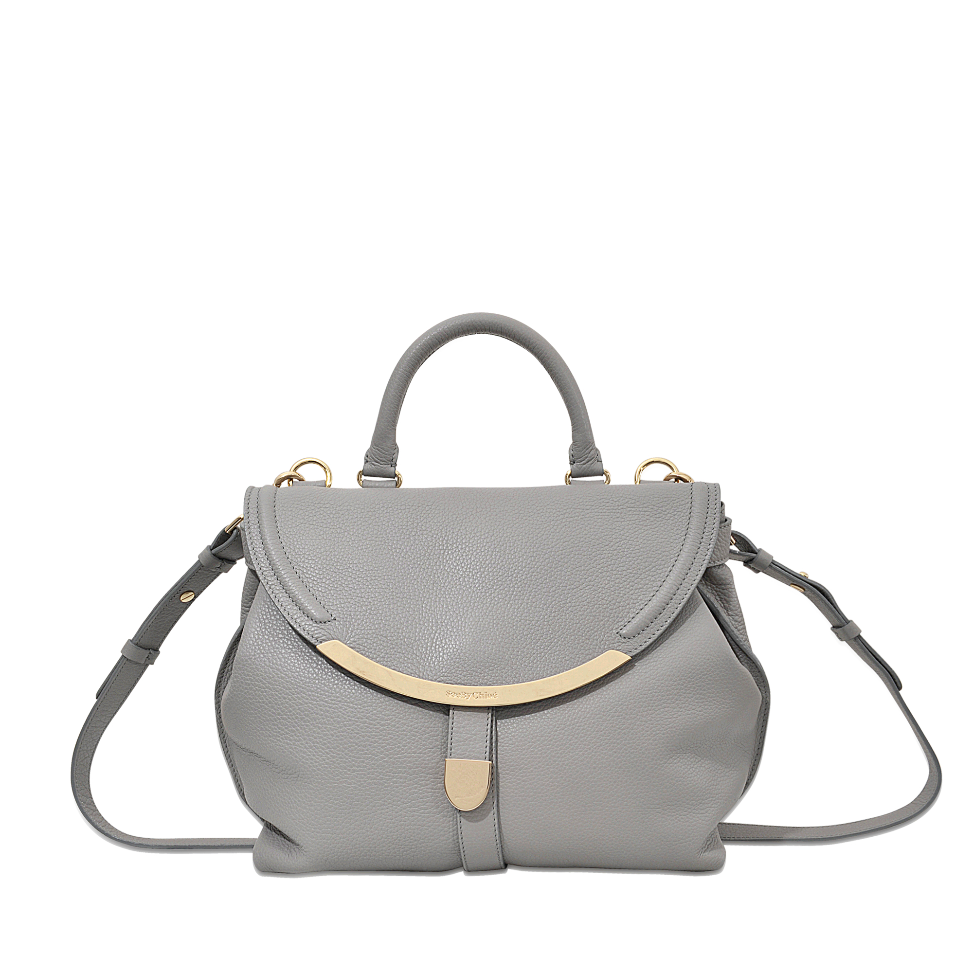 Lyst - See By Chloé Lizzie Satchel Bag in Gray 82c13e567c8