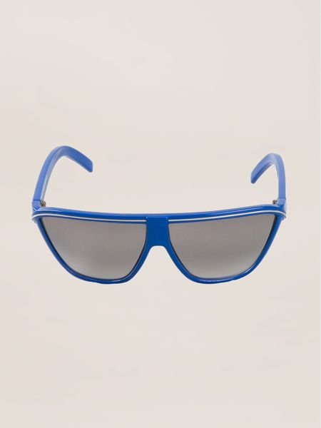 Square Frame Versace Glasses : Gianni Versace Vintage Square Frame Sunglasses in Blue Lyst