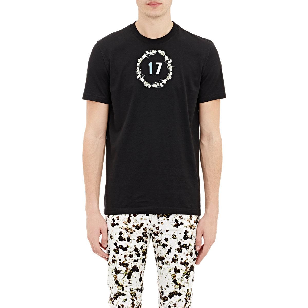 lyst givenchy cotton 39 17 t shirt in black for men. Black Bedroom Furniture Sets. Home Design Ideas