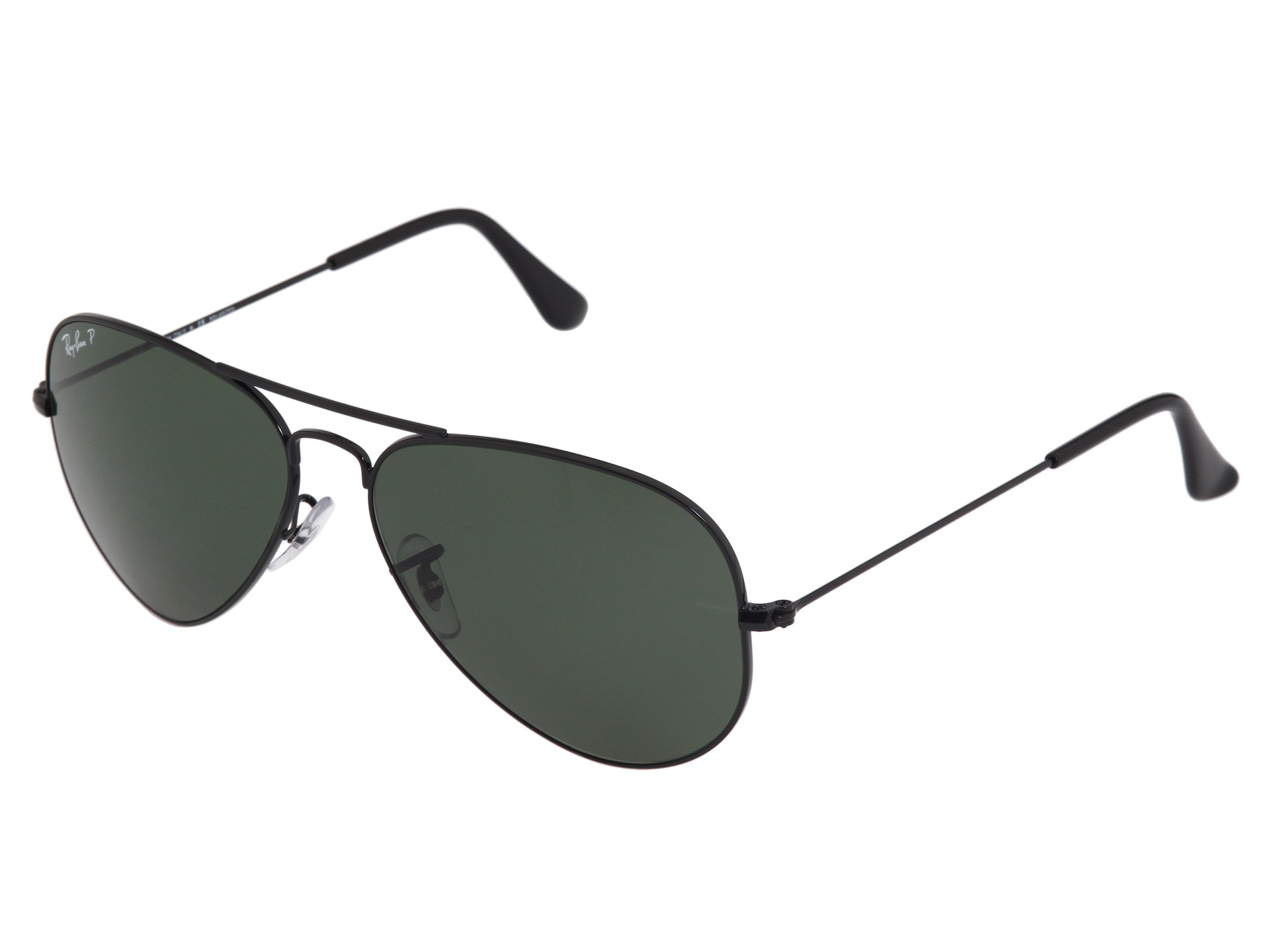 ray ban aviator polarized 58mm in black black natural green polarized le lyst. Black Bedroom Furniture Sets. Home Design Ideas