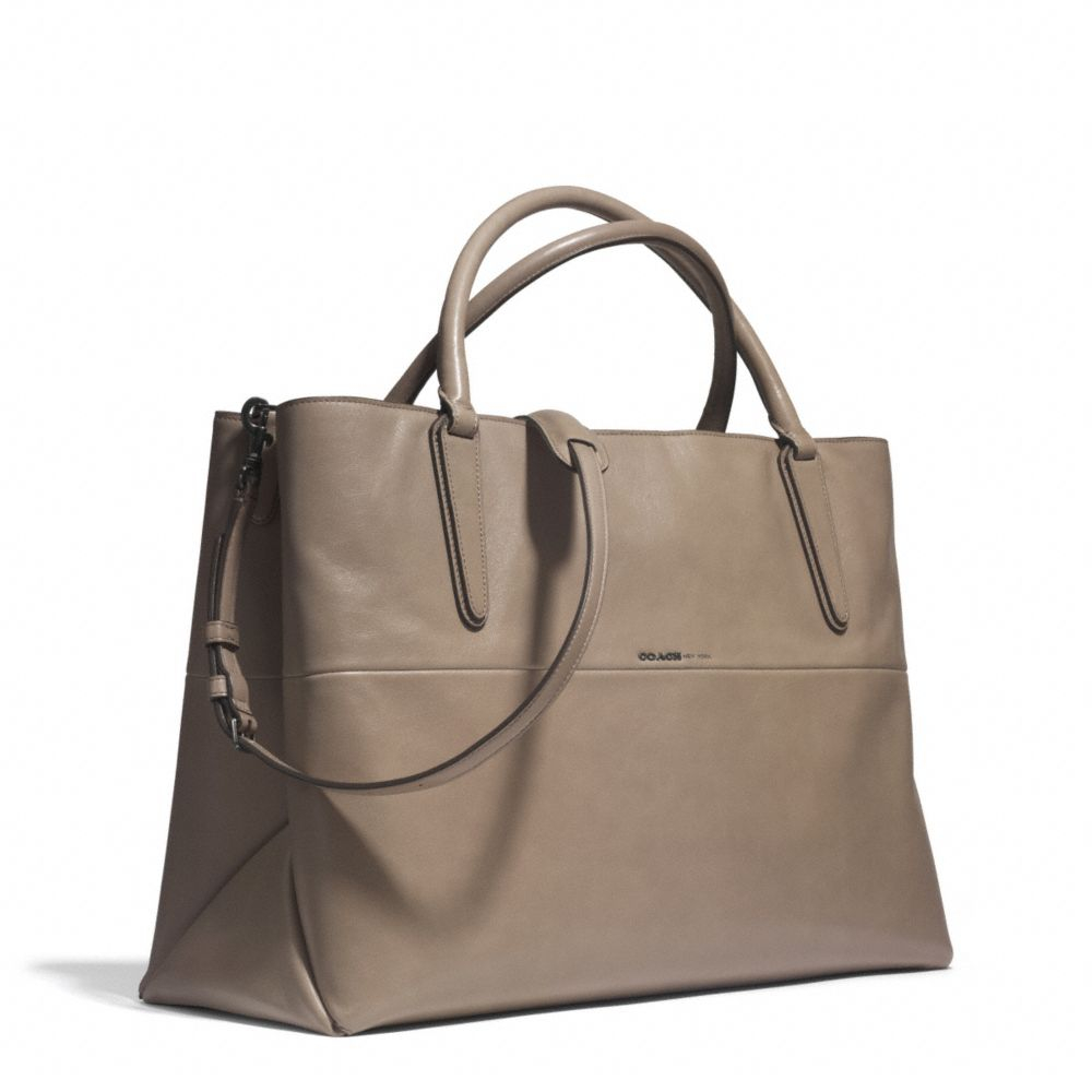 lyst coach large soft borough bag in nappa leather in gray rh lyst com