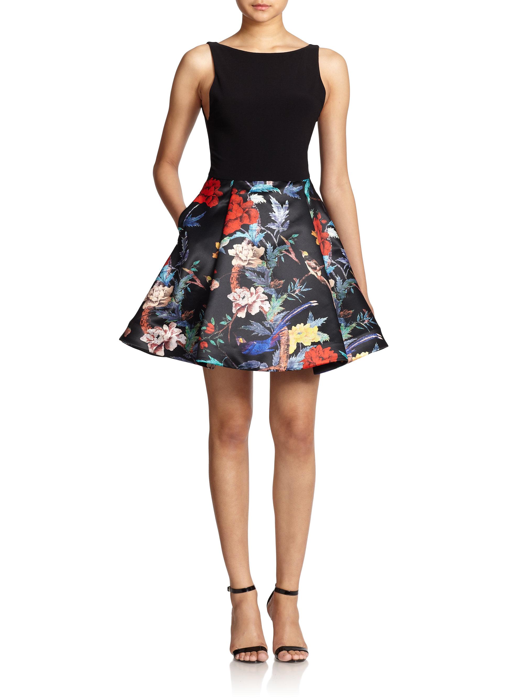 Lyst Alice Olivia Amabel Floral Print Skirt Dress