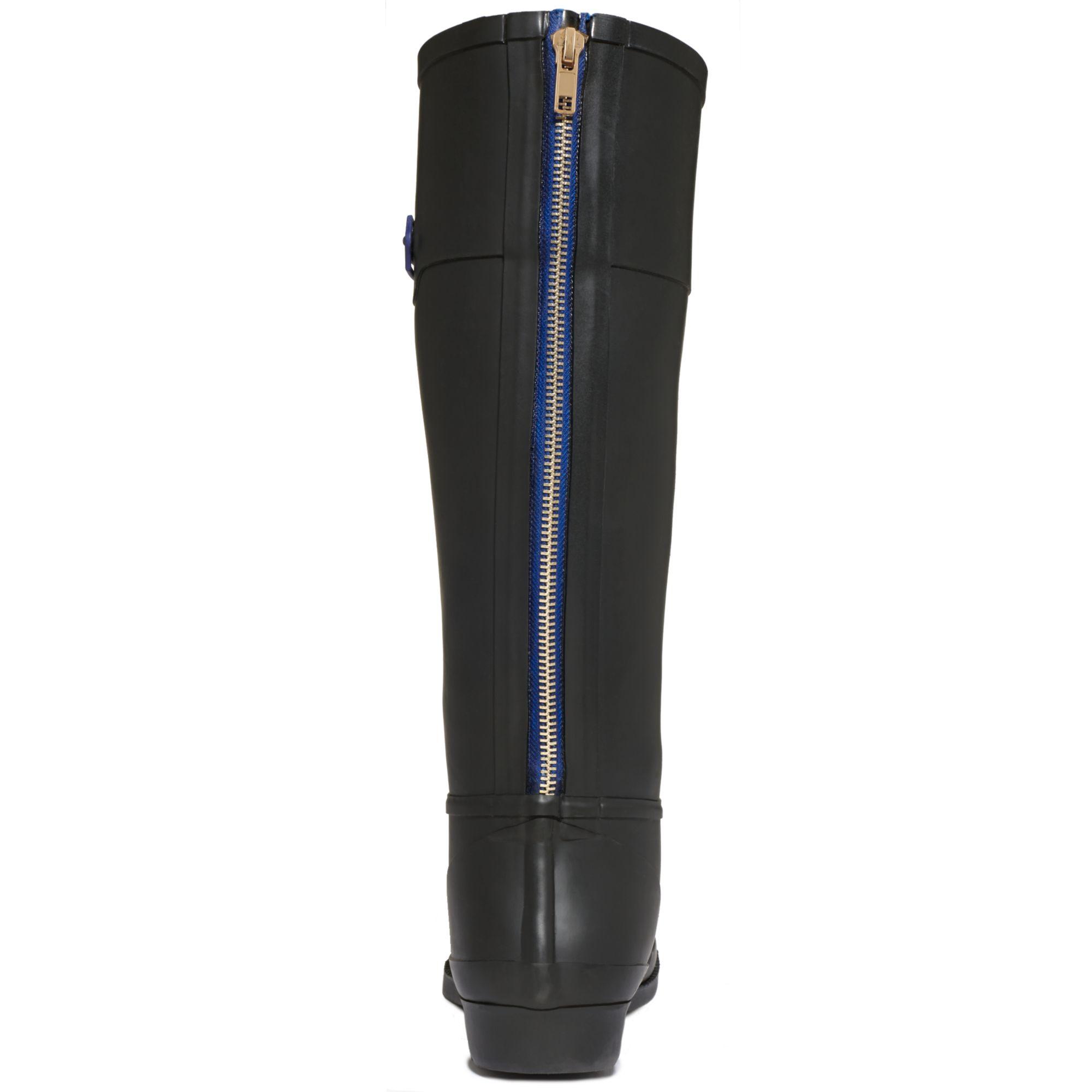 Tommy Hilfiger Coastal Rain Boots In Black - Lyst-6683