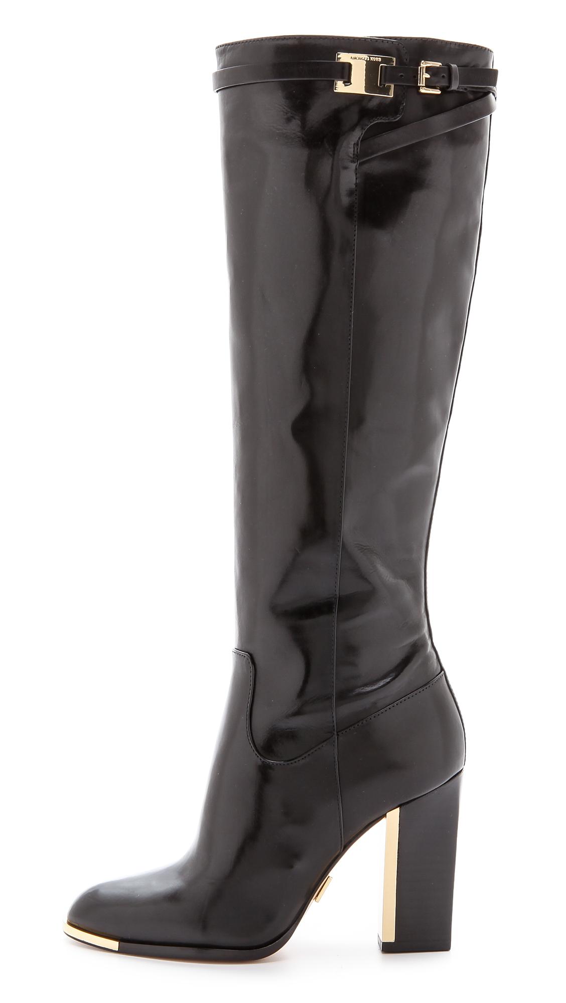 Michael Kors Julie Tall Boots Black In Black Lyst
