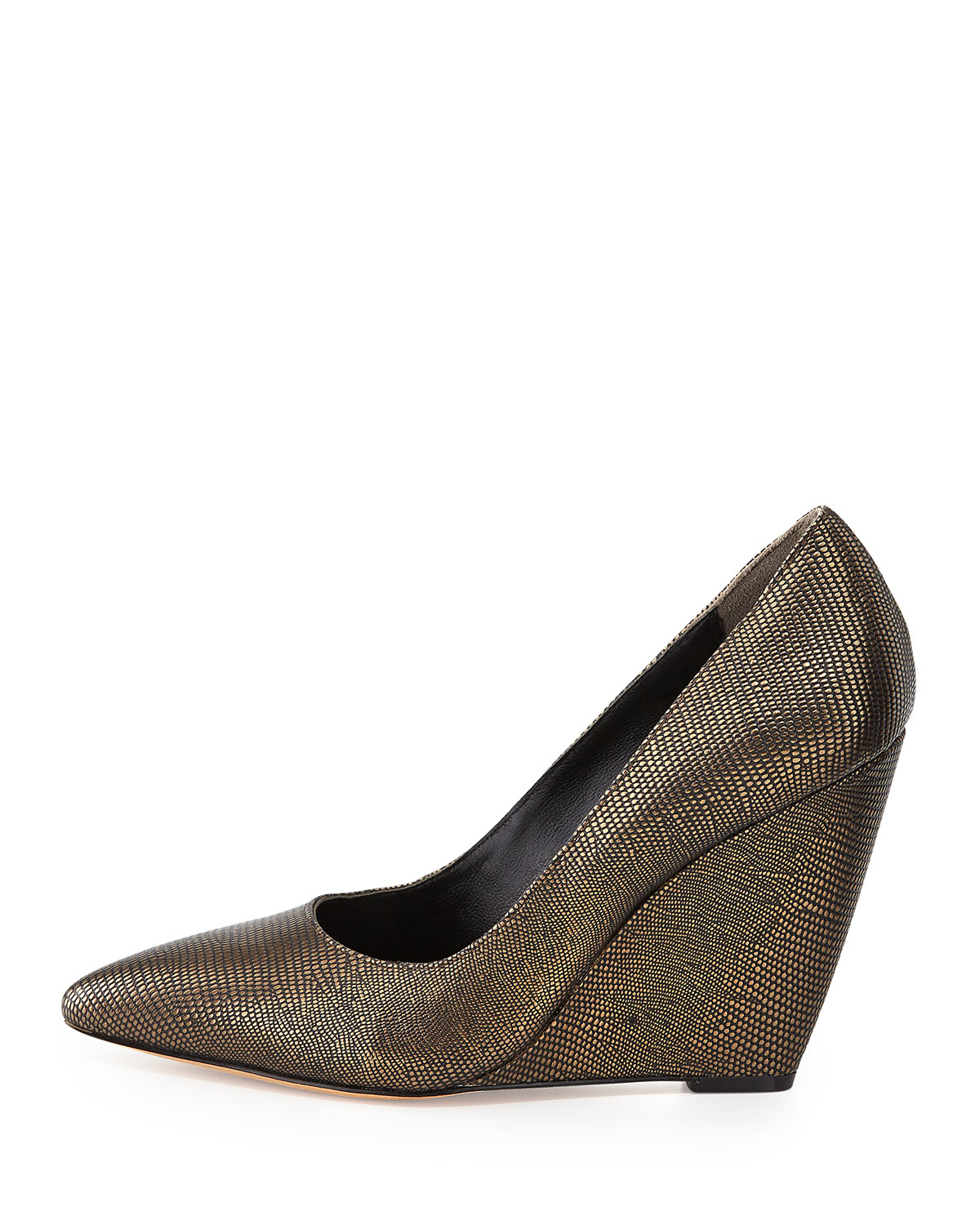 Bronze Wedge Dress Shoes