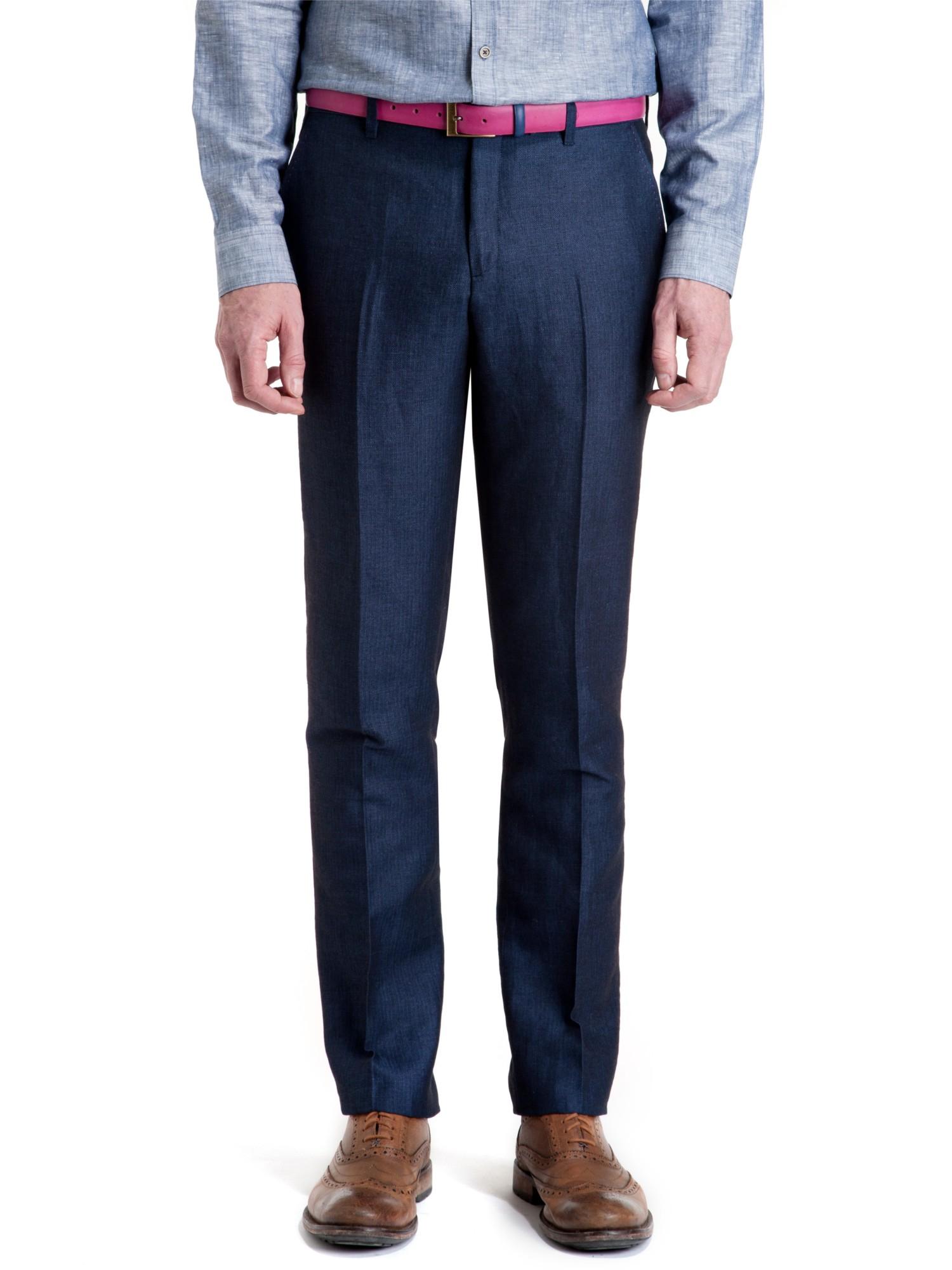 Ted Baker T For Tall Haitro Herringbone Suit Trousers in Navy (Blue) for Men