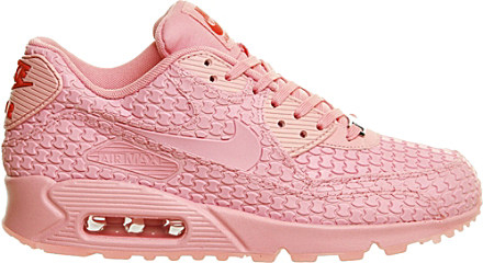 new product 9567a b1725 Nike Air Max 90 Leather Trainers - For Women in Pink - Lyst
