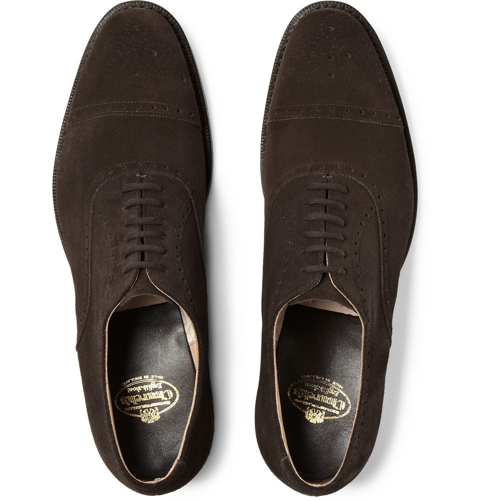 Church S Suede Oxford Brogues In Brown For Men Lyst
