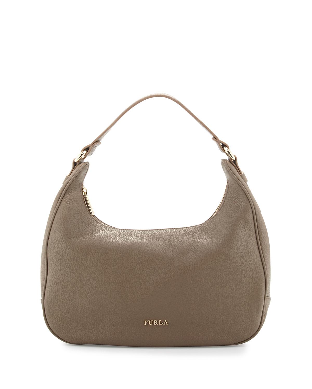 furla giada medium leather hobo bag in brown lyst. Black Bedroom Furniture Sets. Home Design Ideas