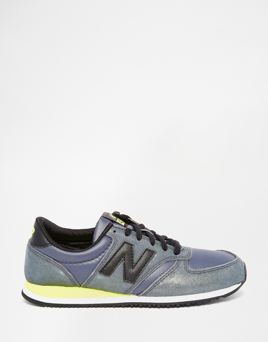 new balance glam suede khaki 420 trainers in green for men. Black Bedroom Furniture Sets. Home Design Ideas