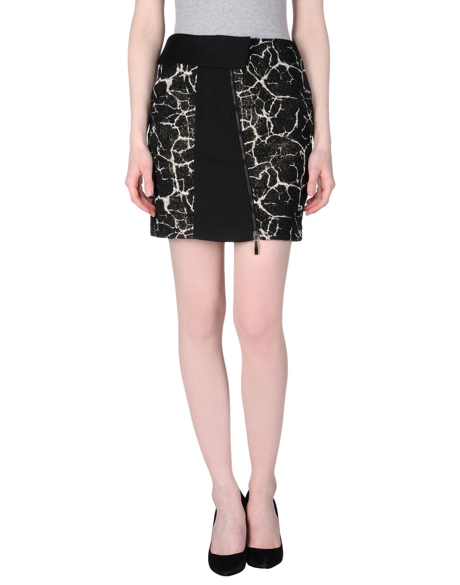 malloni mini skirt in black lyst