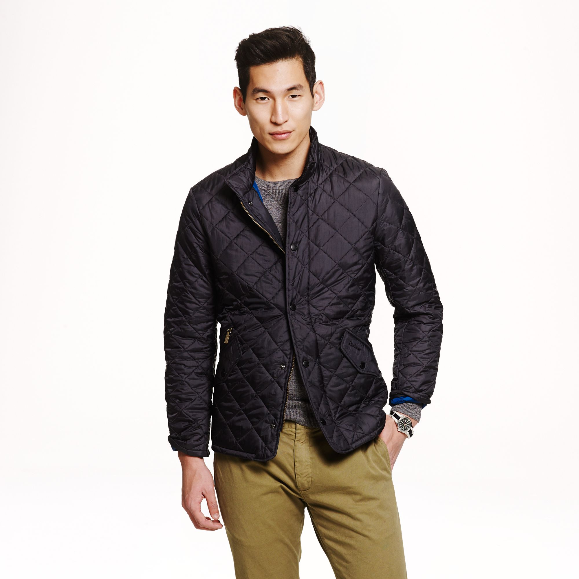 Barbour Flyweight Chelsea Quilted Jacket In Blue For Men