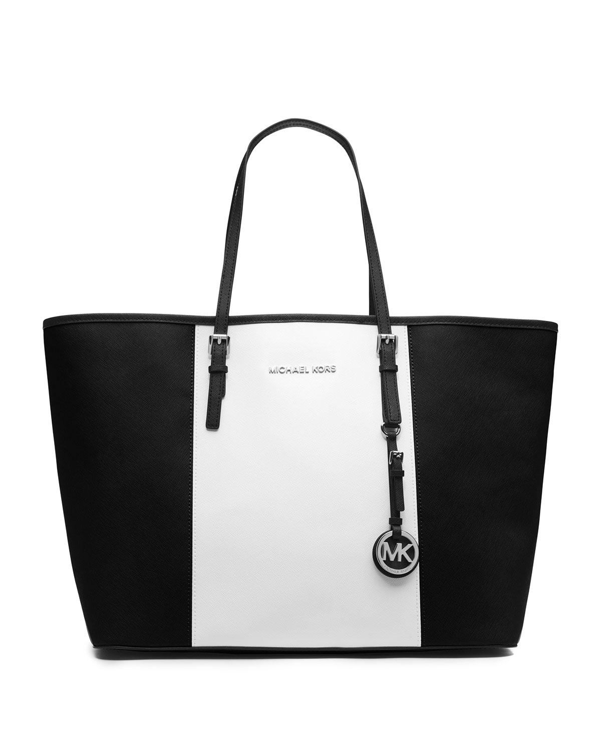 michael kors black and white bag