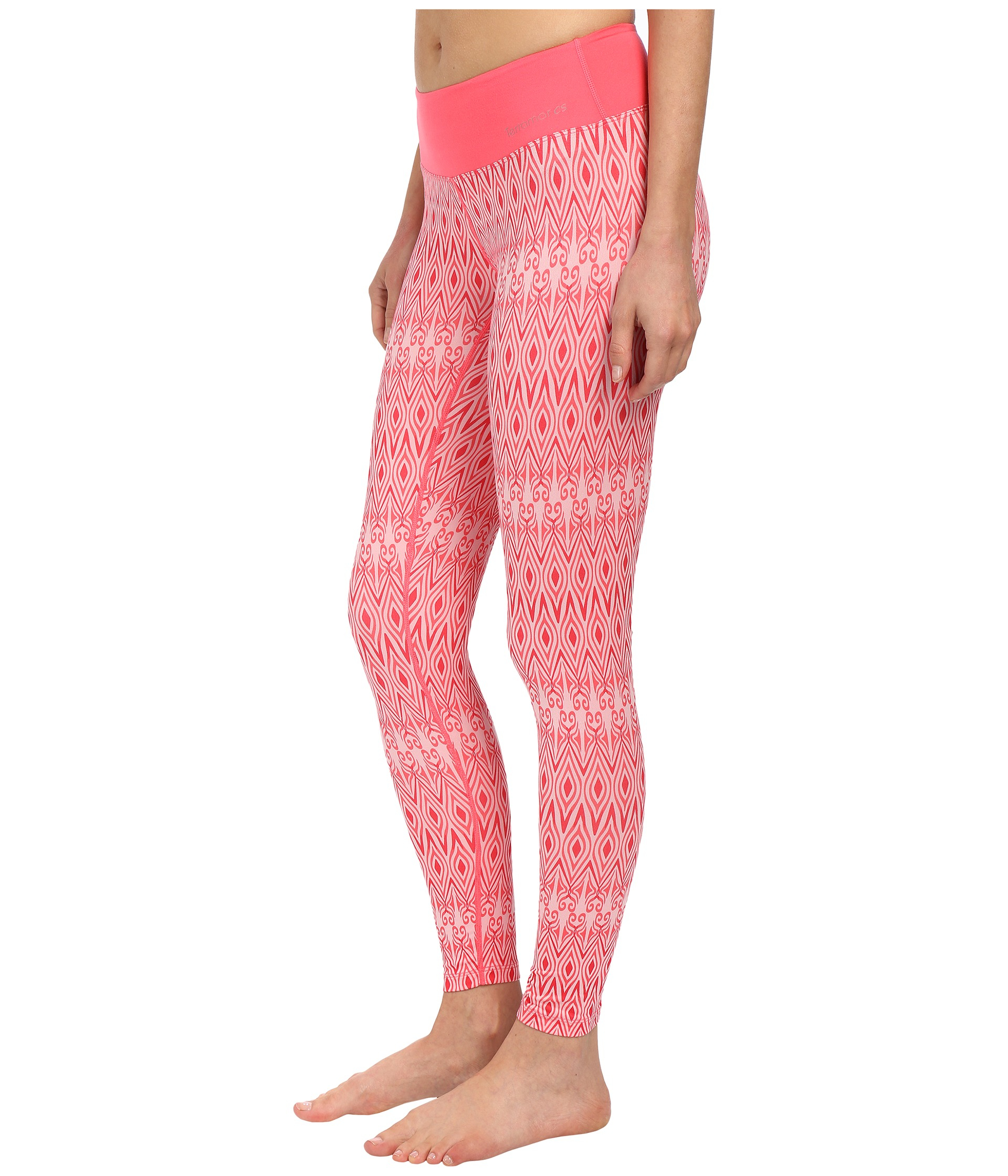 4bfaee951a8c6a Terramar Cloudnine Performance Scroll Tights W8326 in Pink - Lyst