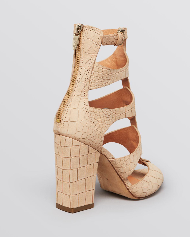 b8d731d24836 Sigerson Morrison Gladiator Sandals Vachael High Heel in Natural - Lyst