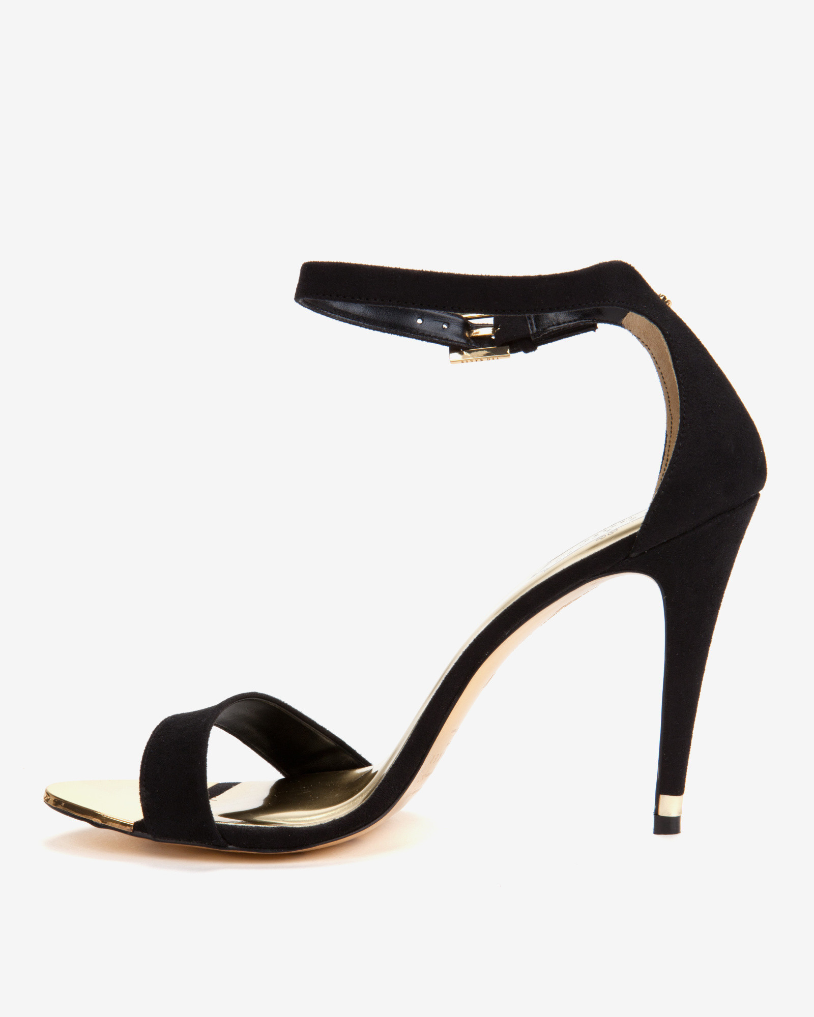7536bc83c49 Ted Baker Ankle Strap Sandals in Black - Lyst