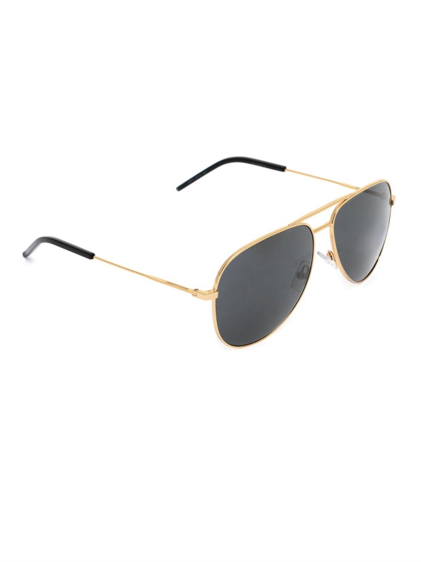 sunglasses aviator style  Saint laurent Classic 11 Aviator-Style Sunglasses in Metallic for ...