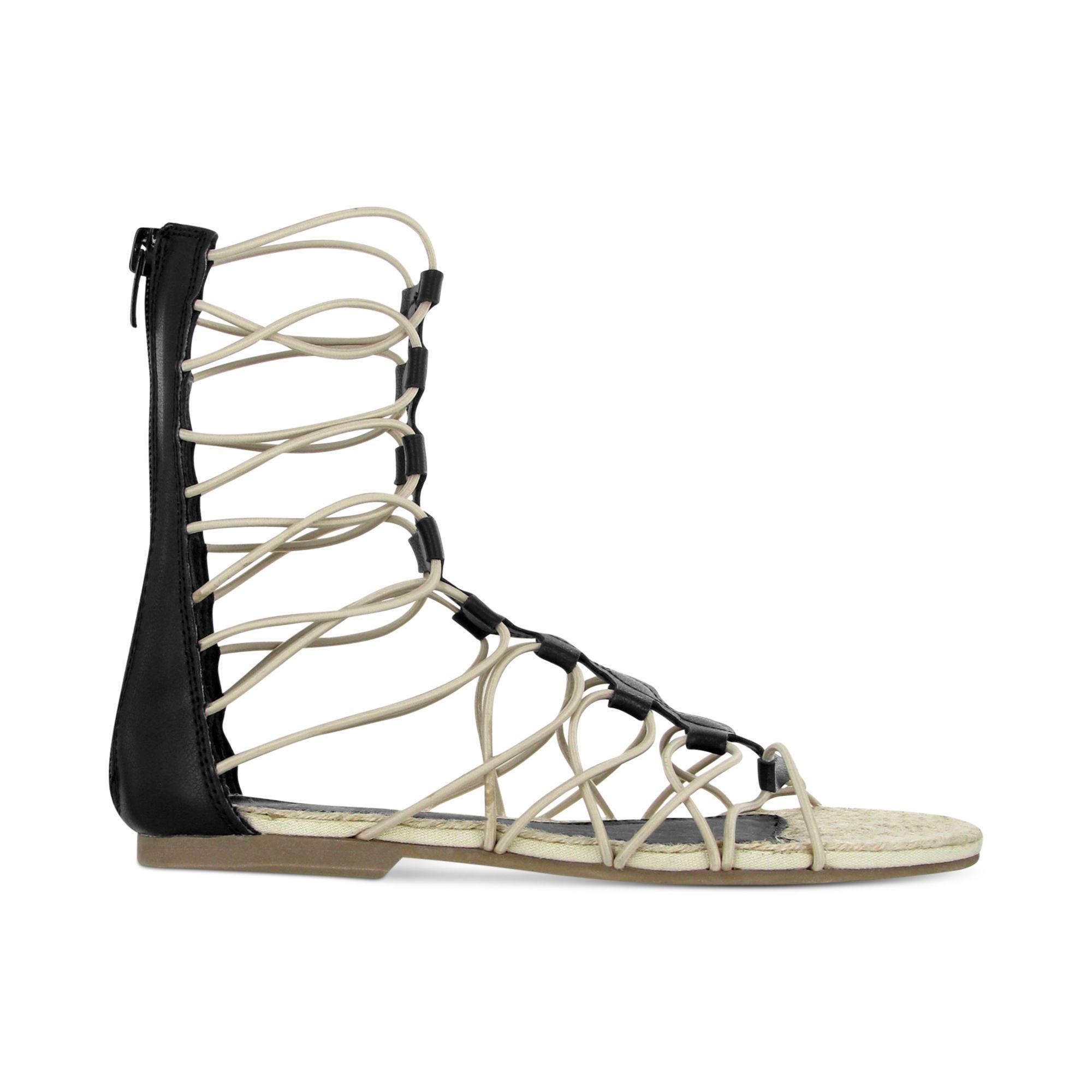 57c06d0f202 Lyst - MIA Livi Gladiator Sandals in Black