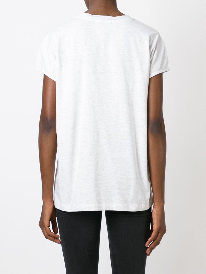 Markus Lupfer Short Sleeve T Shirt In White Lyst