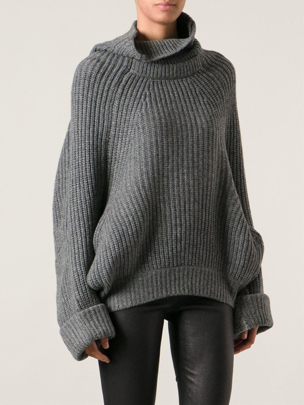 Turtleneck dress shirt sweater oversized springs