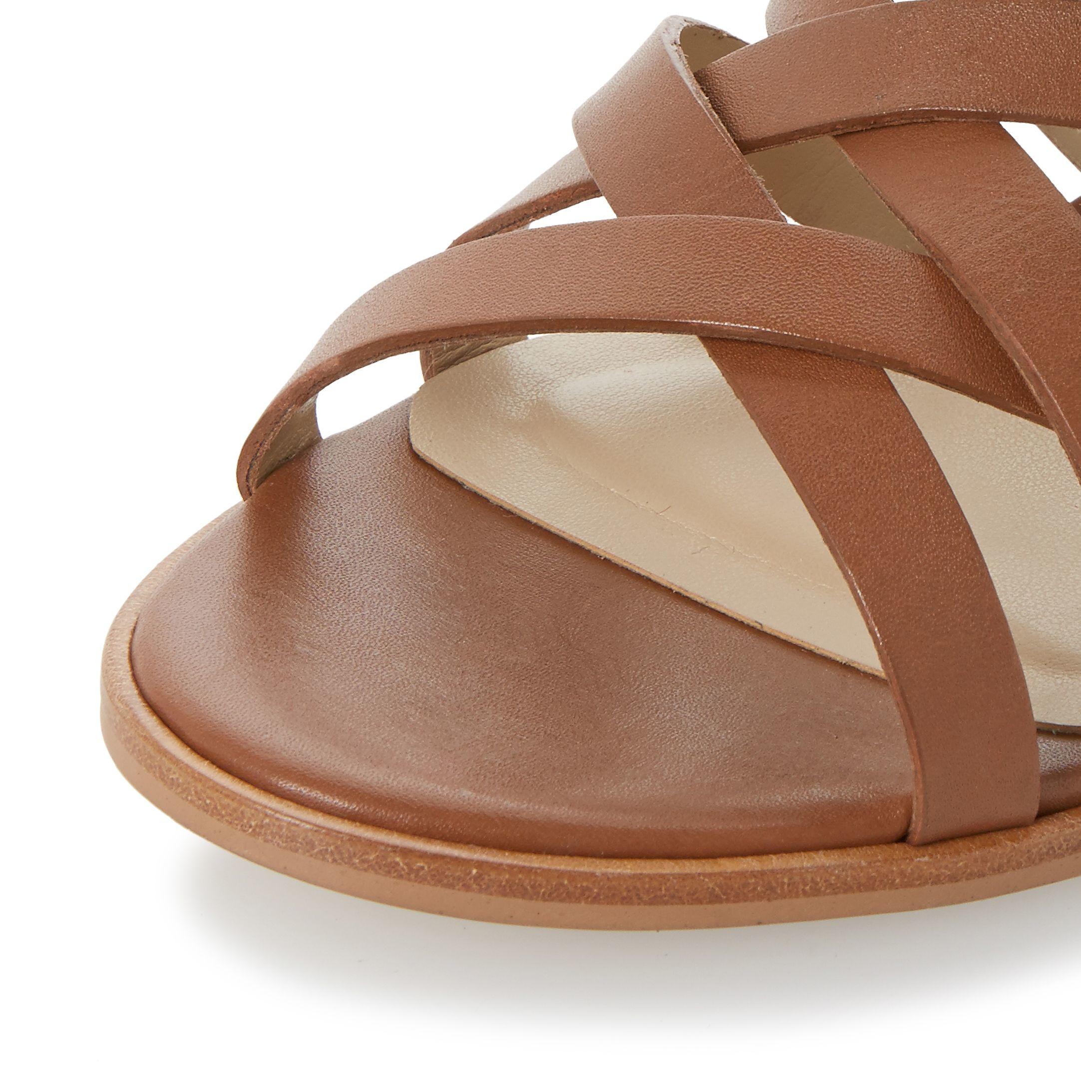 Dune Iliana Strappy Block Heel Sandals in Brown | Lyst